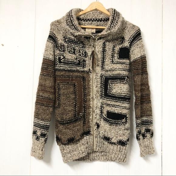 Aritzia Wilfred Free Full Zip Wool Blend Sweater